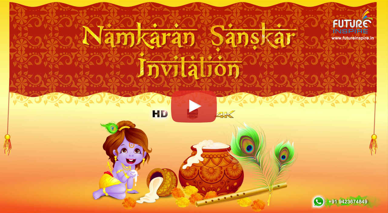 Baby Boy Naming Ceremony {Namkaran Sanskar} Invitation (Garg Family